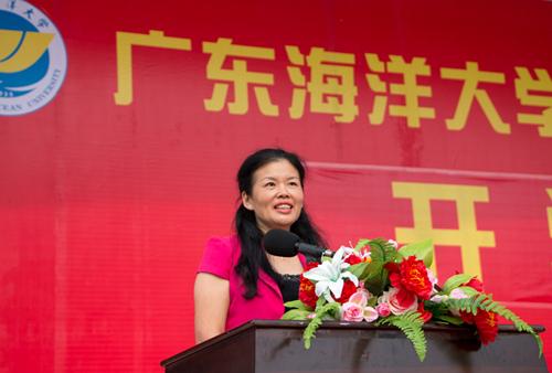 广东海洋大学副校长高秀梅期许新生雏凤胜于老凤声
